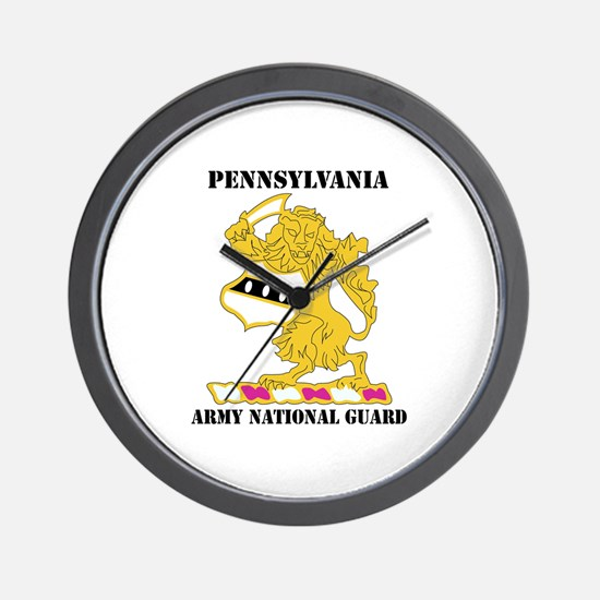 DUI-PENNSYLVANIA ANG WITH TEXT Wall Clock