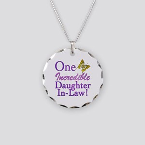 One Incredible Daughter-In-Law Necklace Circle Cha