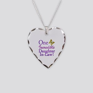 One Incredible Daughter-In-Law Necklace Heart Char
