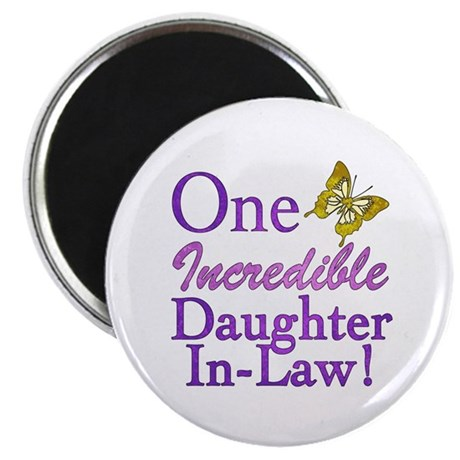 "One Incredible Daughter-In-Law 2.25"" Magnet (100 p"