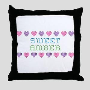 Sweet AMBER Throw Pillow