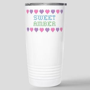 Sweet AMBER Stainless Steel Travel Mug