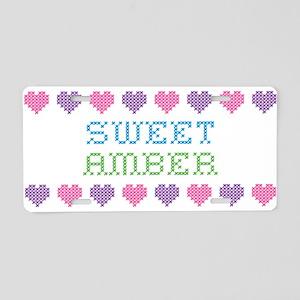Sweet AMBER Aluminum License Plate