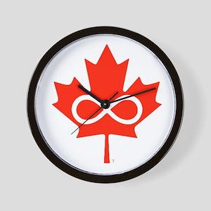 Canadian Metis Flag Wall Clock