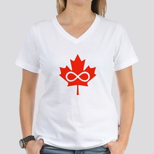 Canadian Metis Flag Women's V-Neck T-Shirt