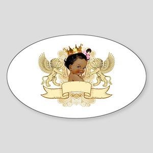 African American Royal Princess Sticker