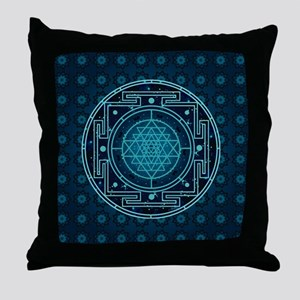 Starry Sky Yantra Throw Pillow