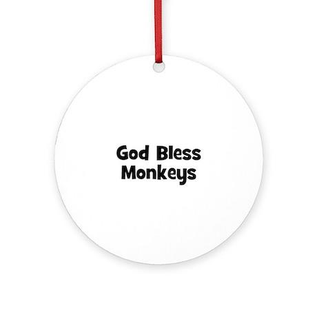 God Bless Monkeys Ornament (Round)