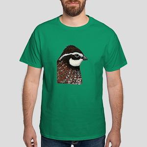 Bobwhite Quail Head Dark T-Shirt