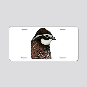 Bobwhite Quail Head Aluminum License Plate