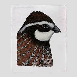 Bobwhite Quail Head Throw Blanket