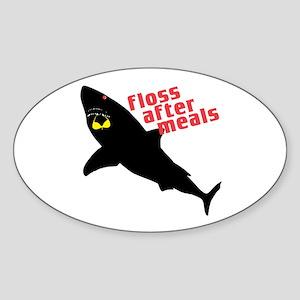 Shark Floss Oval Sticker