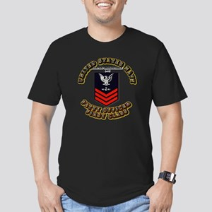 US Navy - AO with text Men's Fitted T-Shirt (dark)