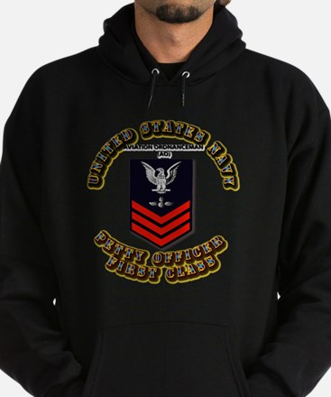 US Navy - AO with text Hoodie (dark)