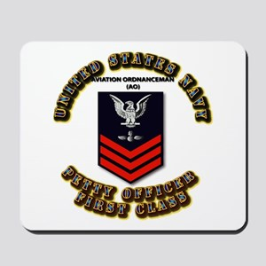 US Navy - AO with text Mousepad