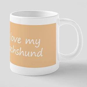 Dachshund (Longhaired) 20 oz Ceramic Mega Mug
