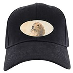 Dachshund (Longhaired) Black Cap with Patch