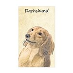 Dachshund (Longhaired) Sticker (Rectangle 50 pk)