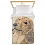Dachshund (Longhaired) Twin Duvet Cover