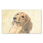 Dachshund (Longhaired) Sticker (Rectangle 10 pk)