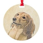 Dachshund (Longhaired) Round Ornament