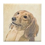 Dachshund (Longhaired) Tile Coaster
