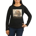 Dachshund (Longha Women's Long Sleeve Dark T-Shirt
