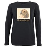 Dachshund (Longhaired) Plus Size Long Sleeve Tee