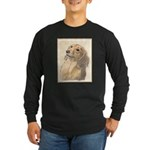 Dachshund (Longhaired) Long Sleeve Dark T-Shirt