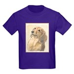 Dachshund (Longhaired) Kids Dark T-Shirt