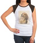 Dachshund (Longhaired) Junior's Cap Sleeve T-Shirt