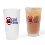 Dont copy that floppy Drinking Glass