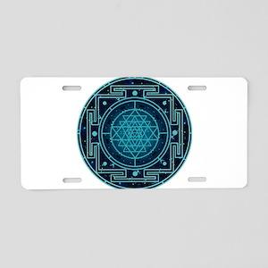 Starry Sky Yantra Aluminum License Plate
