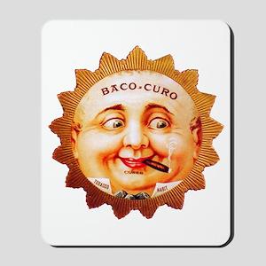 Round Face Cigar Label Mousepad