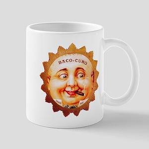 Round Face Cigar Label Mug