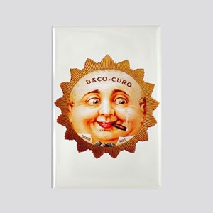Round Face Cigar Label Rectangle Magnet