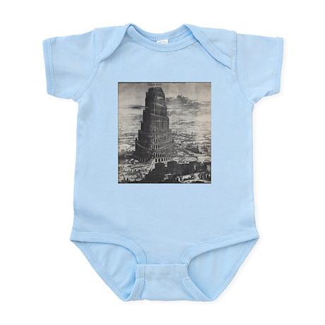 Ancient Tower of Babel Infant Bodysuit