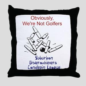 Suburban Underachievers Throw Pillow