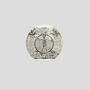 Alchemical Astrology Man Mini Button