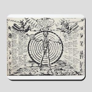 Alchemical Astrology Man Mousepad