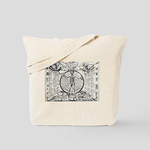 Alchemical Astrology Man Tote Bag