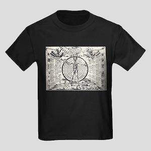 Alchemical Astrology Man Kids Dark T-Shirt