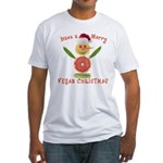 Merry Vegan Christmas Fitted T-Shirt