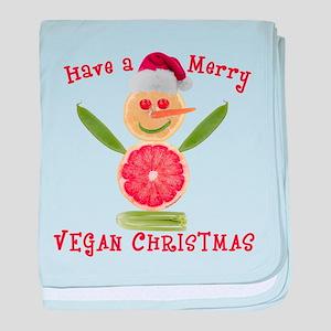 Merry Vegan Christmas baby blanket