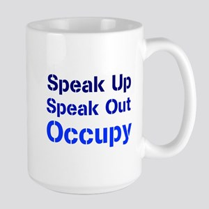 Speak Out (blue) Large Mug