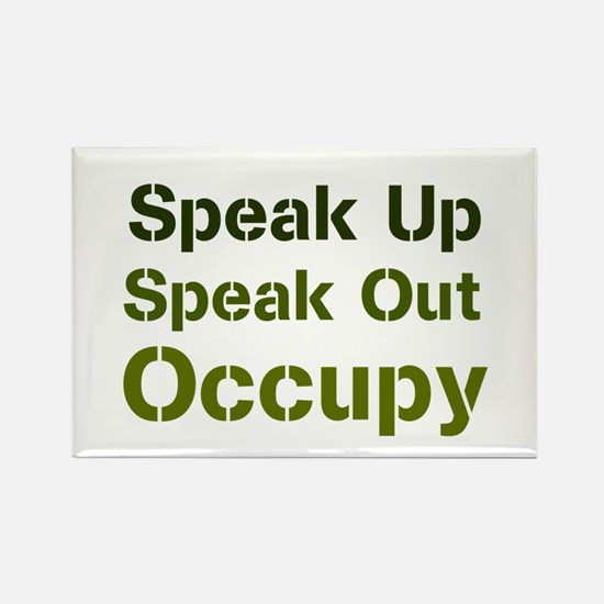 Speak Out (green) Rectangle Magnet
