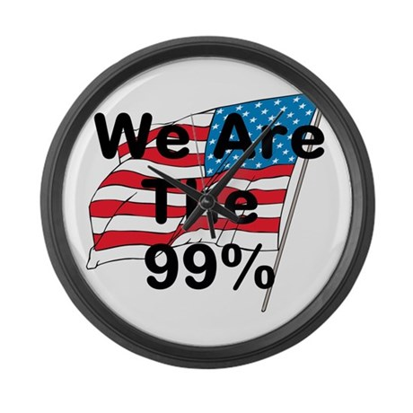 We Are The 99% Large Wall Clock