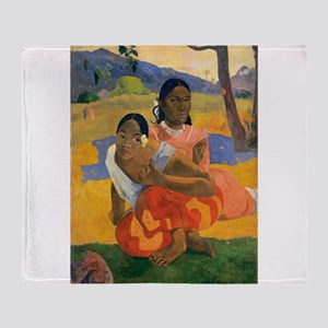 Paul Gauguin When Will You Marry Throw Blanket