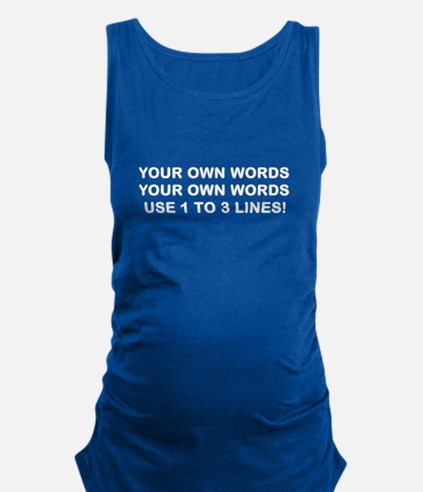 Personalized Customized White W Maternity Tank Top
