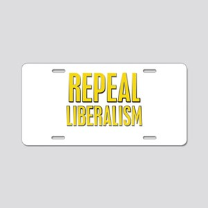 Repeal 4 Yellow Aluminum License Plate